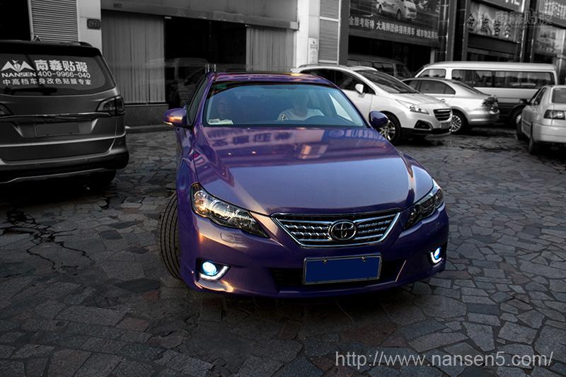丰田锐志车身改色金钻紫案例